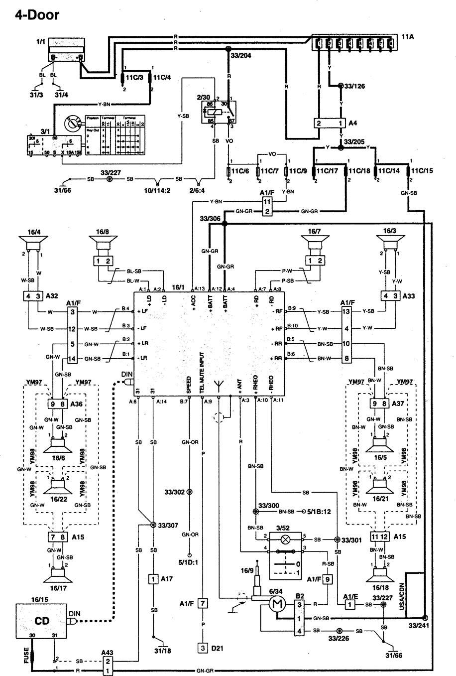 hight resolution of 1997 volvo 960 wiring diagram
