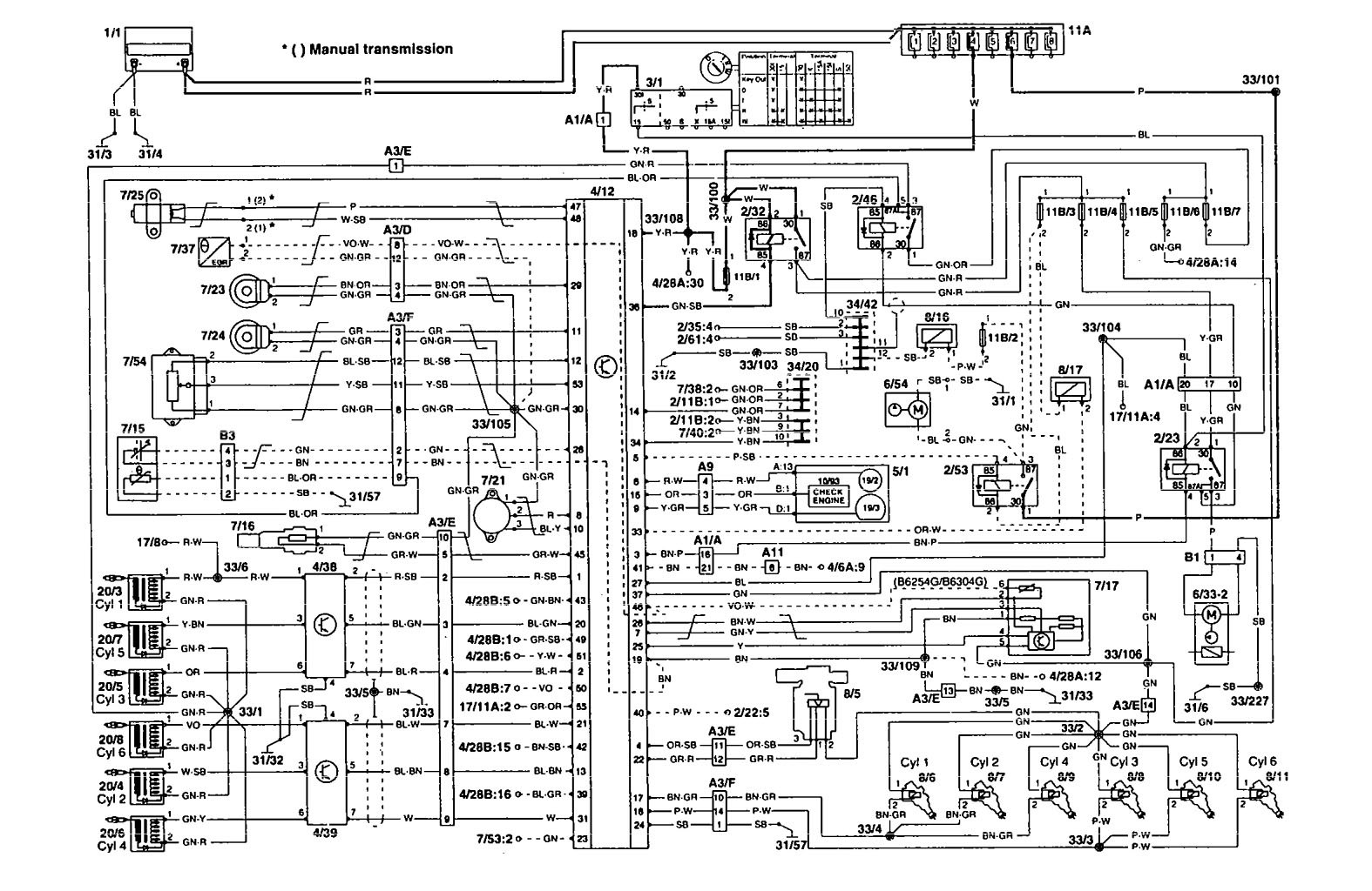 1993 volvo 240 stereo wiring diagram 4 wire o2 sensor toyota 1994 940 engine manual e books simple schematic diagram1994 960 data schema