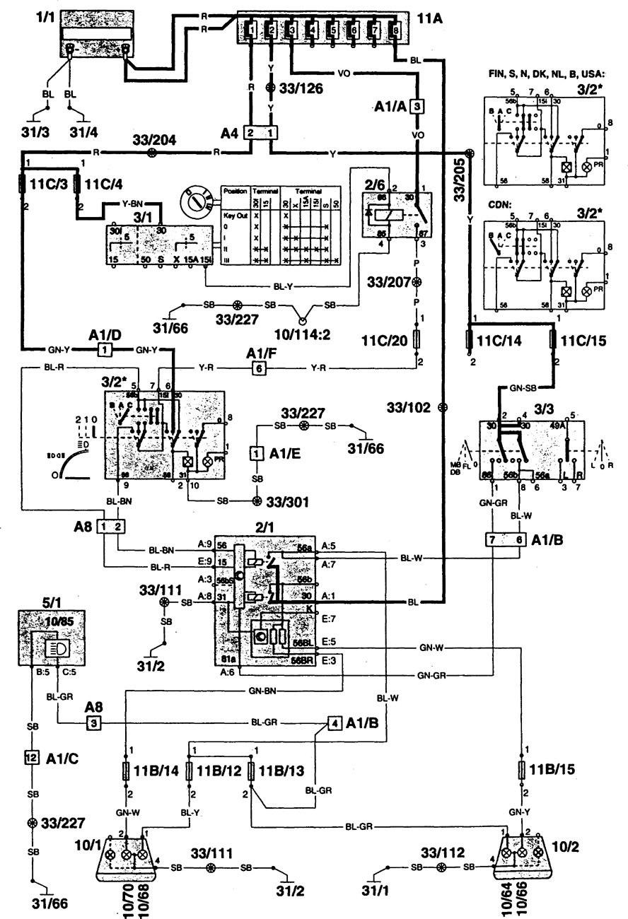 airtex fuel pump wiring diagram general motors radio diagrams 1997 volvo 960 auto electrical
