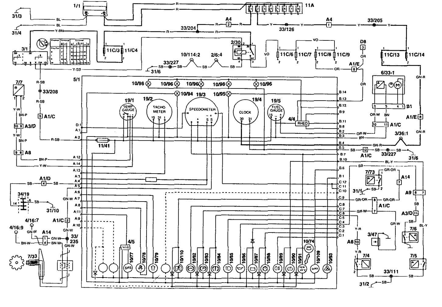 volvo 960 wiring diagram 1995