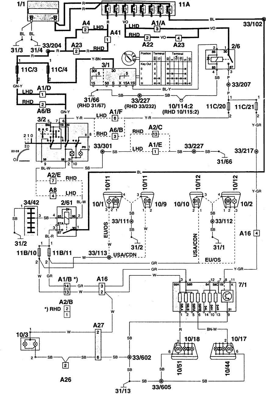 hight resolution of volvo 940 wiring diagram radio