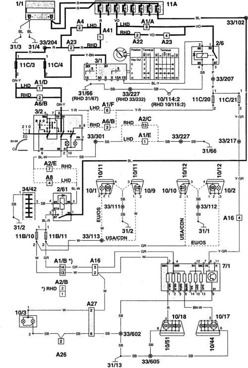 small resolution of volvo 940 wiring diagram radio