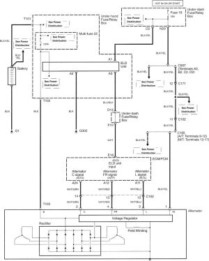 Acura TL (2007  2008)  wiring diagrams  charging system