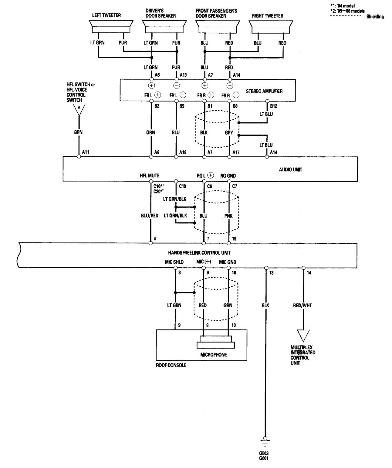 2005 acura tl speaker wiring diagram bennett trim tab pump electrical auto parts catalog and