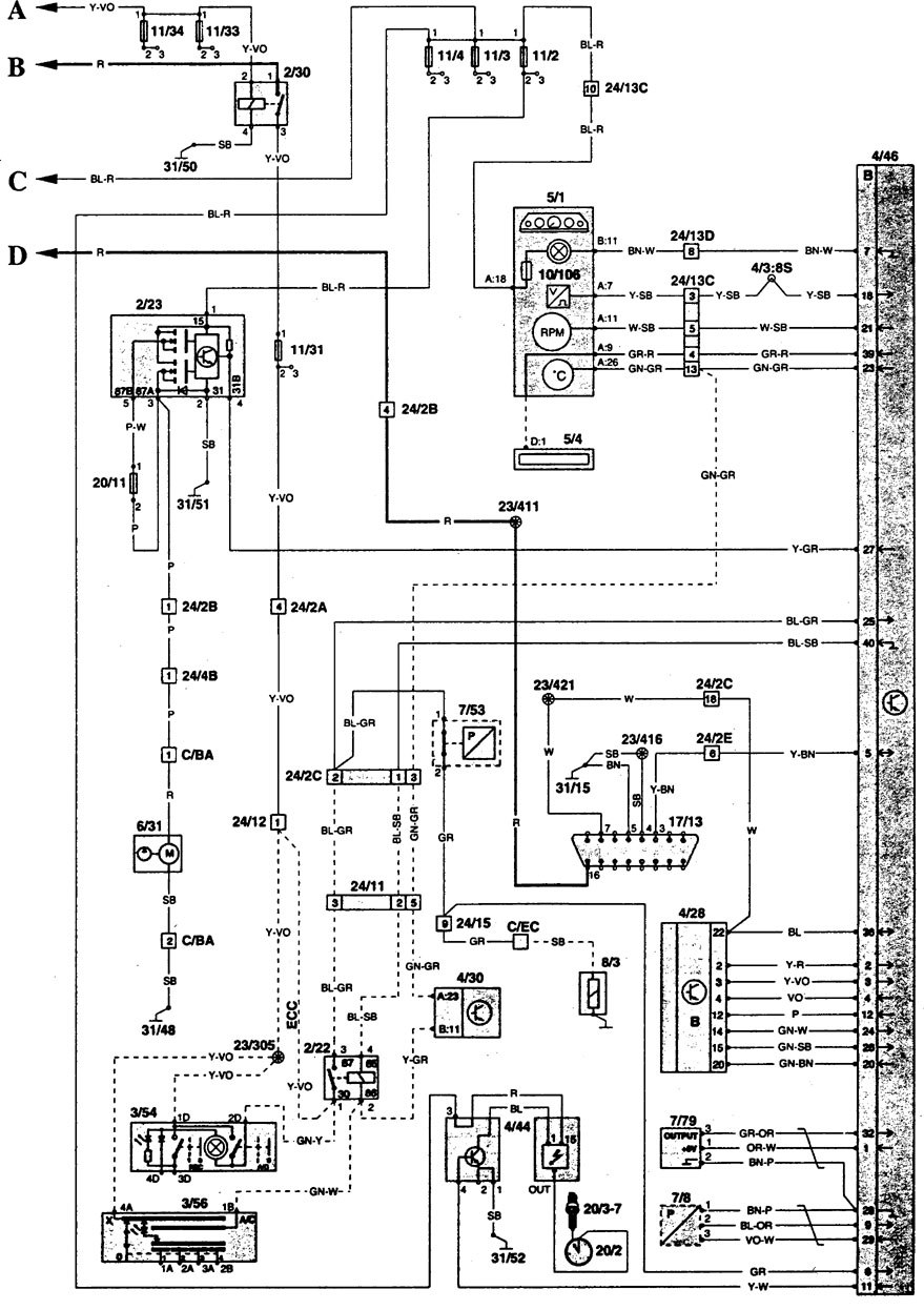 Electrical Wiring Diagram For 1996 Volvo 850. Volvo. Auto