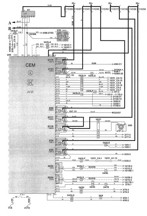 small resolution of volvo v70 2003 wiring diagrams body controls