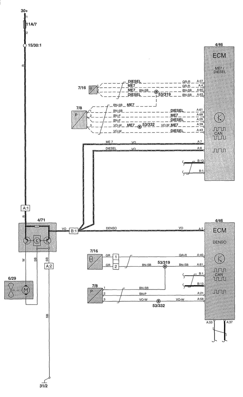 medium resolution of volvo v70 cooling fan wiring diagram wiring diagram u2022 2004 volvo xc90 headlight wiring diagram