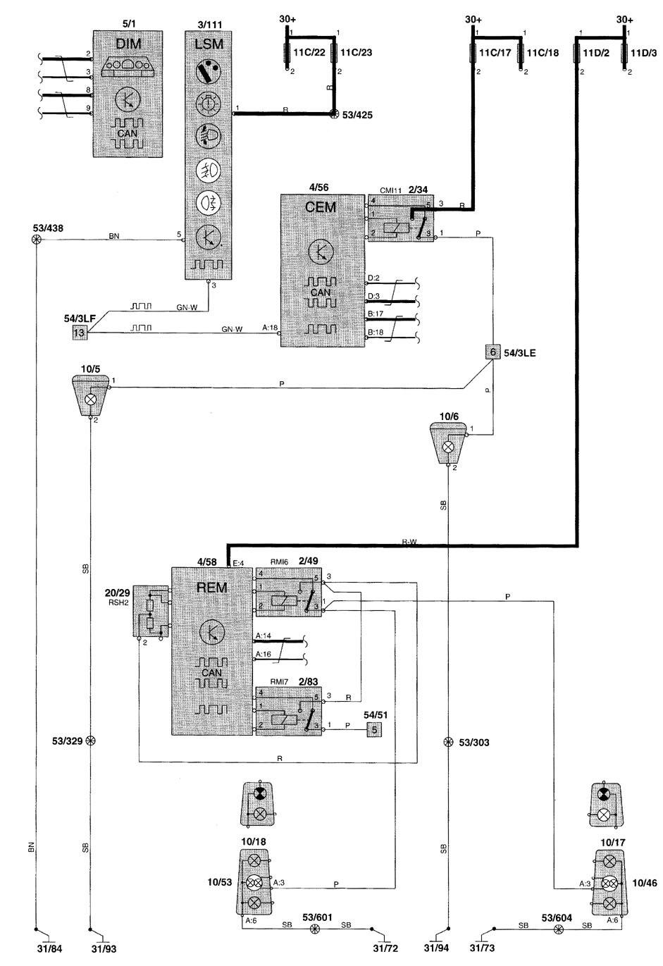 medium resolution of volvo v70 2002 fog lamp wiring diagram diy enthusiasts wiring 2002 volvo s60 fuse diagram 2001