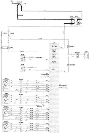 Volvo V70 (2000)  wiring diagrams  fuel controls