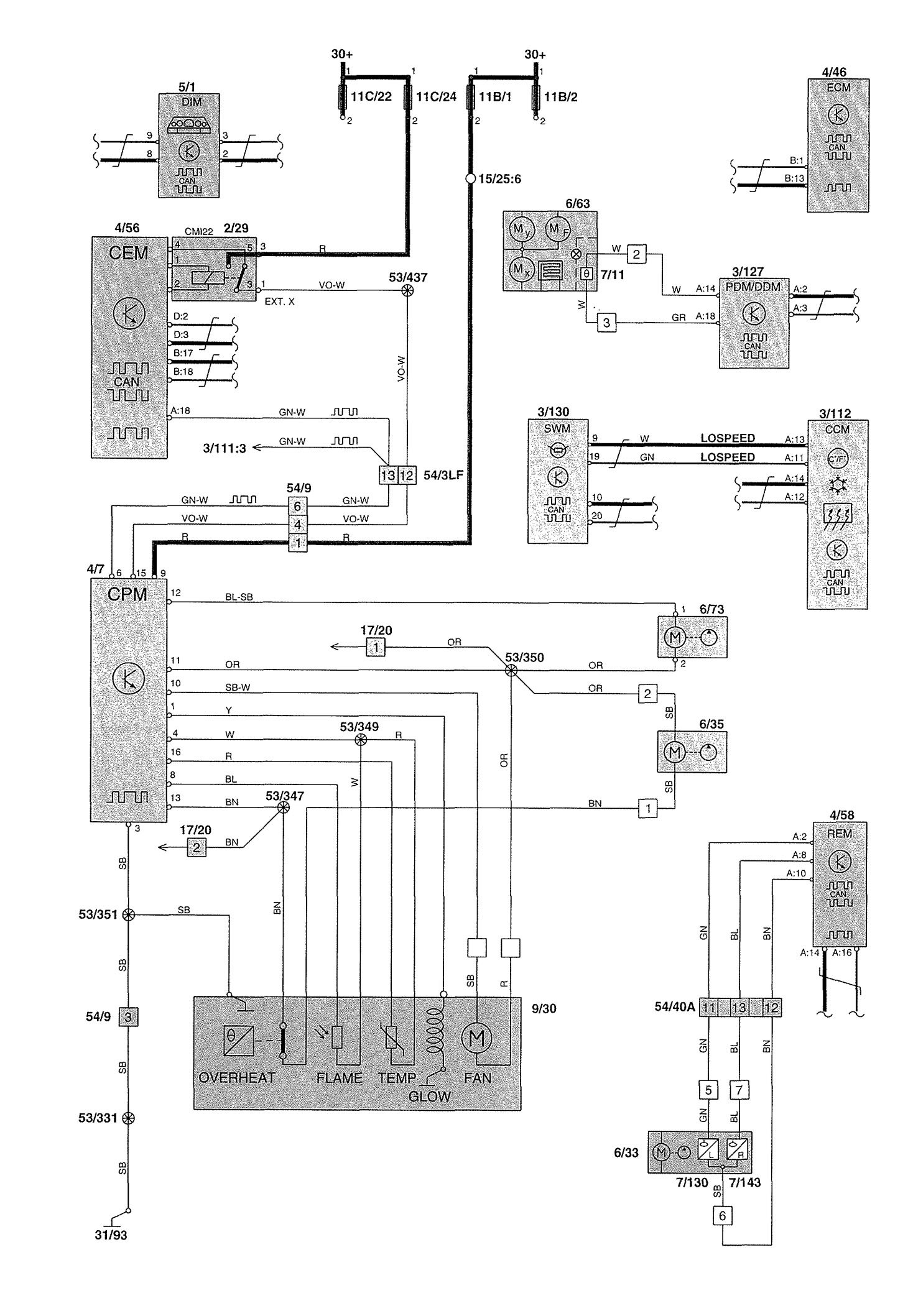 2000 Volvo S70 Wiring Diagram Fuse Box Under Dash And Alarm ... on