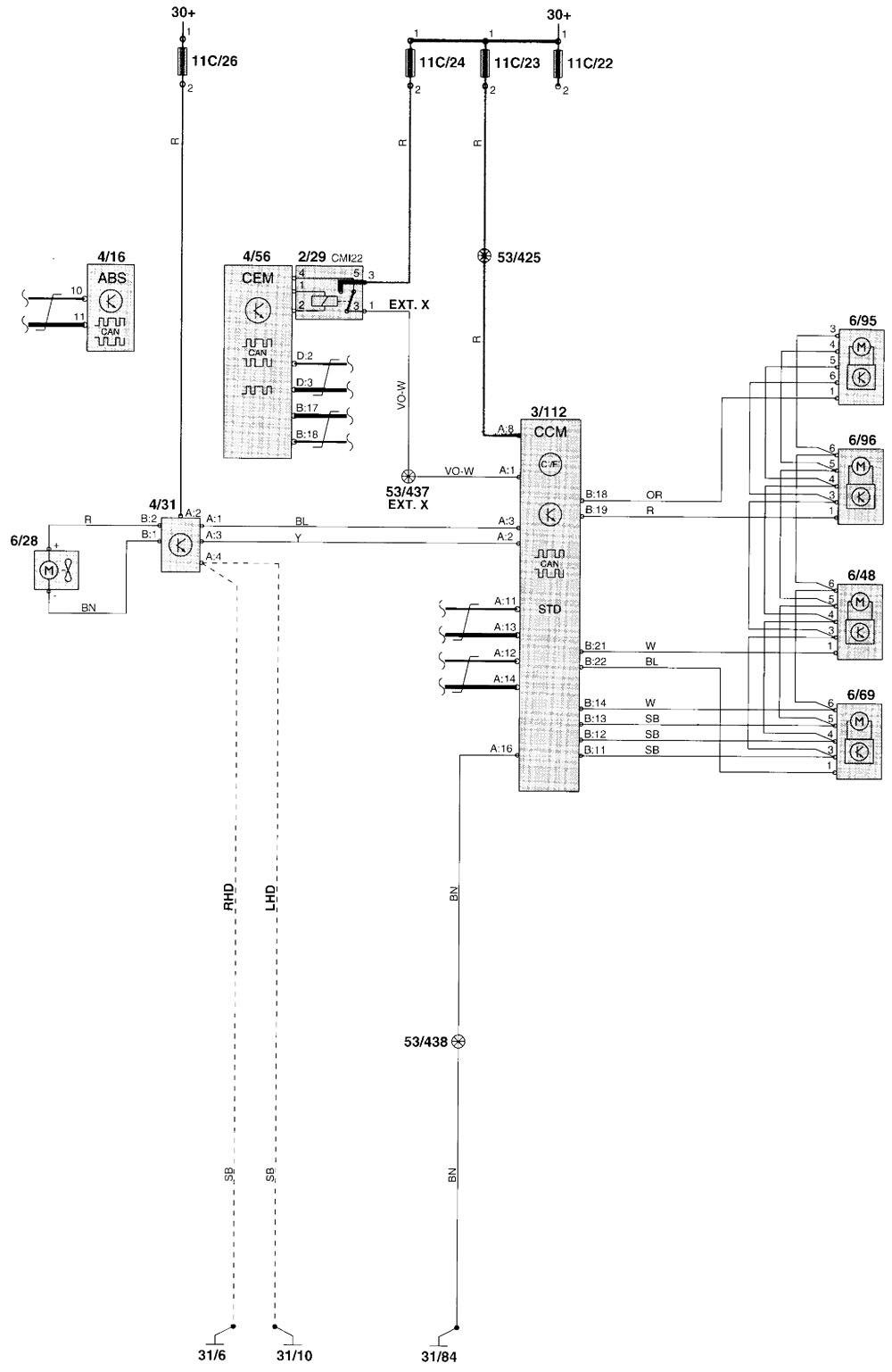 hight resolution of volvo v70 wiring diagram hvac controls part 1