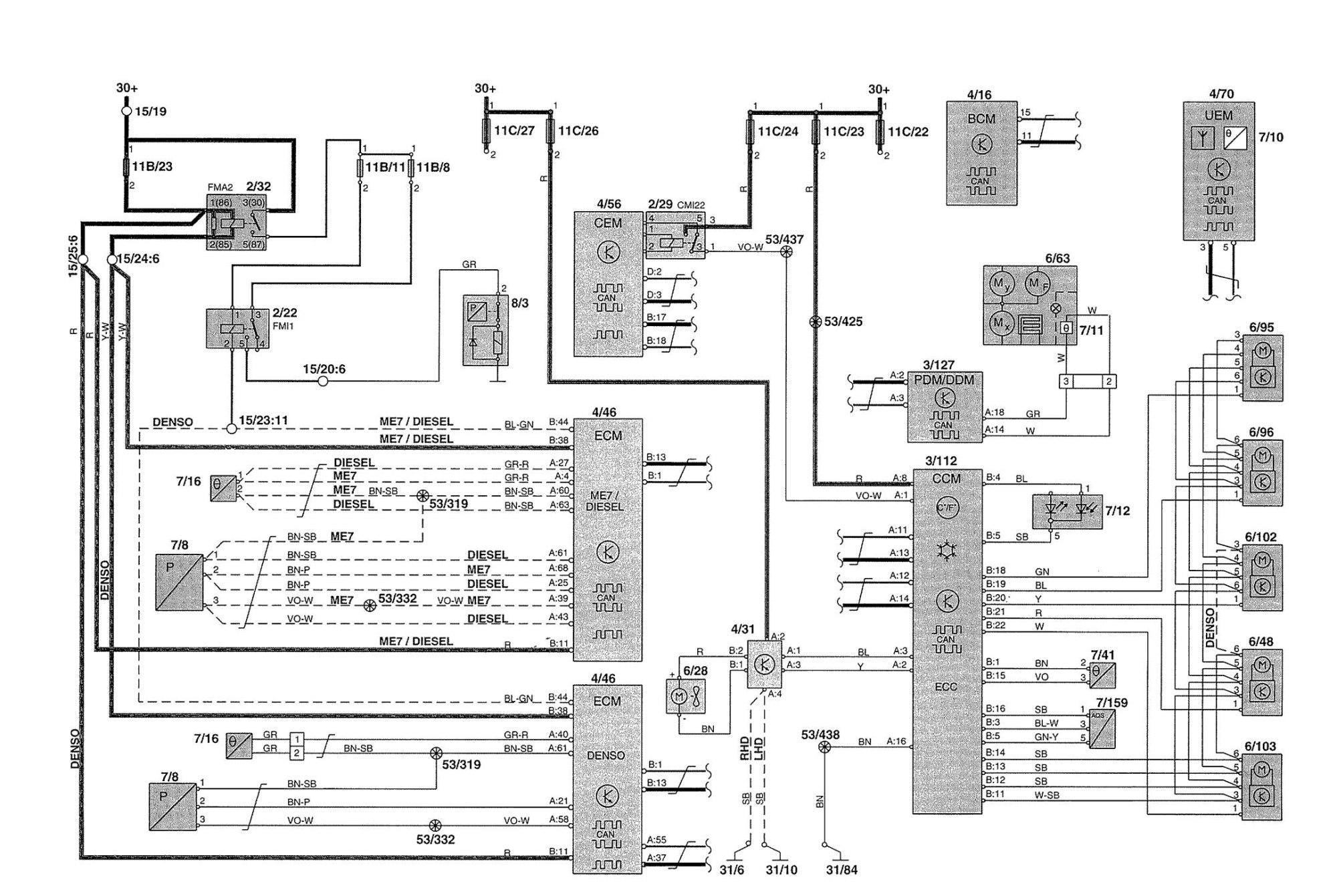 hight resolution of volvo v70 2002 wiring diagrams hvac controls volvo s70 wiring diagram volvo xc90 wiring diagram