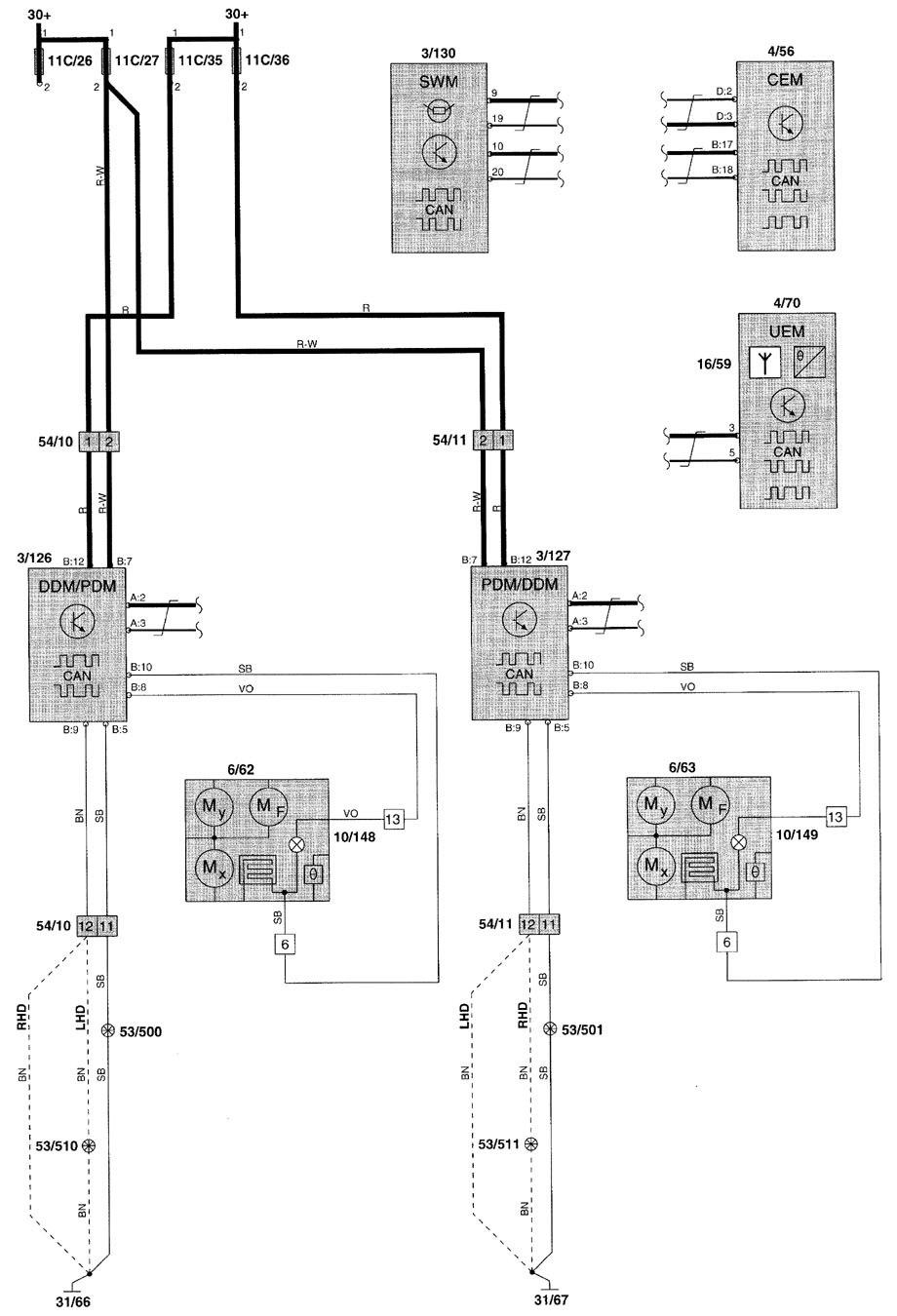volvo v70 fuse diagram