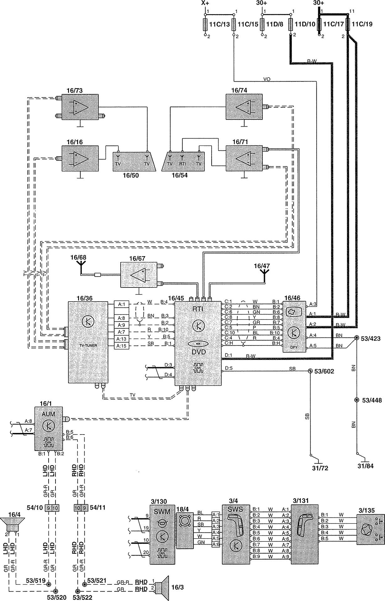 volvo v70 wiring diagram 2000 vauxhall astra convertible 2002 diagrams navigation system