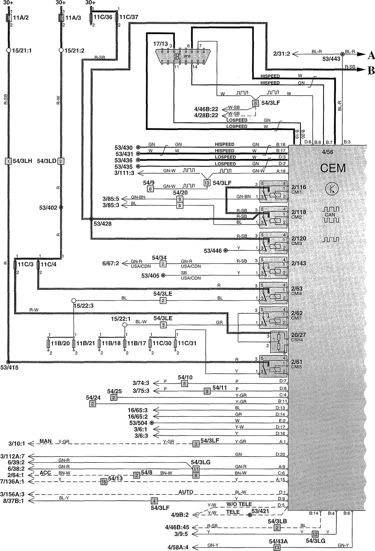 volvo V70 wiring diagram power distribution 1 2002?resize\=665%2C975 volvo xc v70 wiring diagram volvo v70 timing marks, volvo v70 volvo v70 trailer wiring diagram at edmiracle.co
