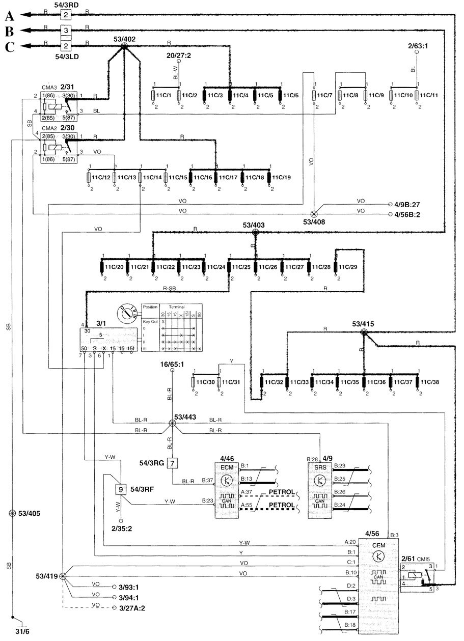 hight resolution of gps wiring diagram 2001 volvo v70