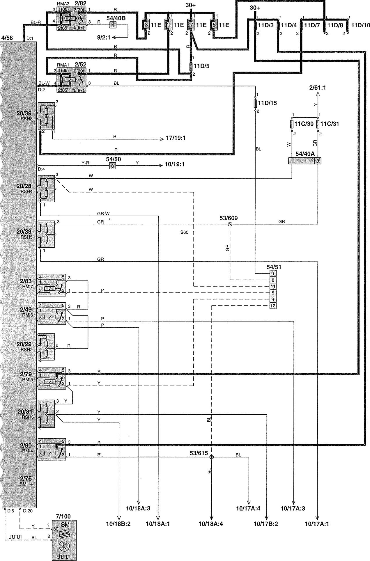 1999 volvo v70 stereo wiring diagram electrical motor control diagrams 2002 power distribution