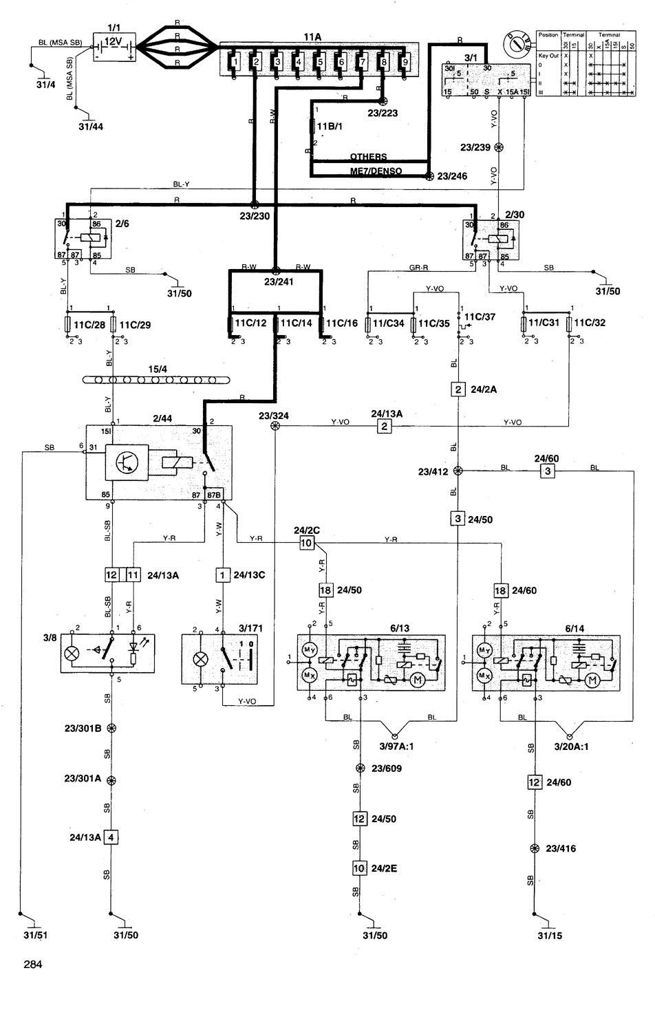 hight resolution of volvo v70 wiring diagram power mirrors part 1