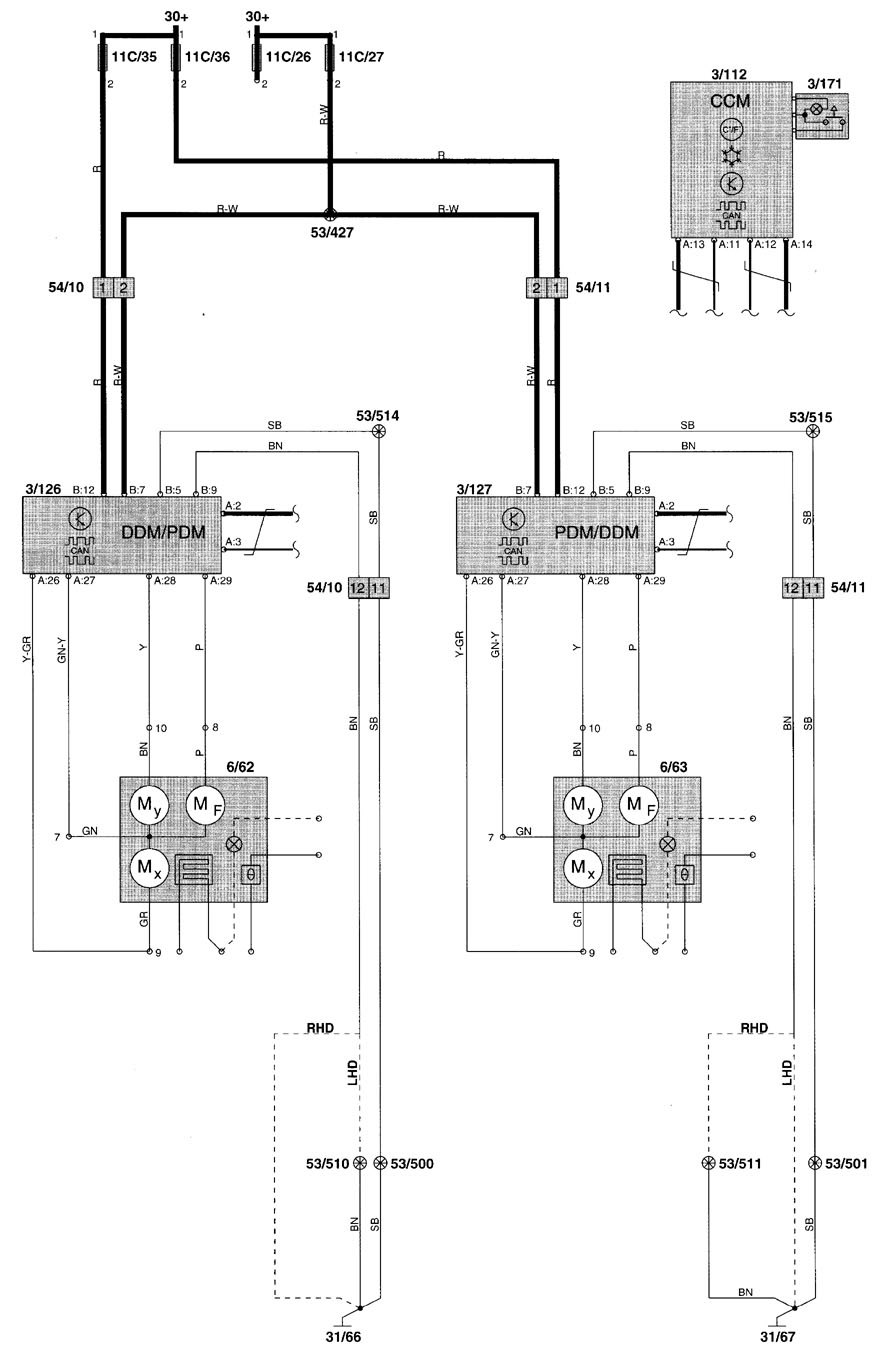 hight resolution of volvo v70 2000 wiring diagrams power mirrors