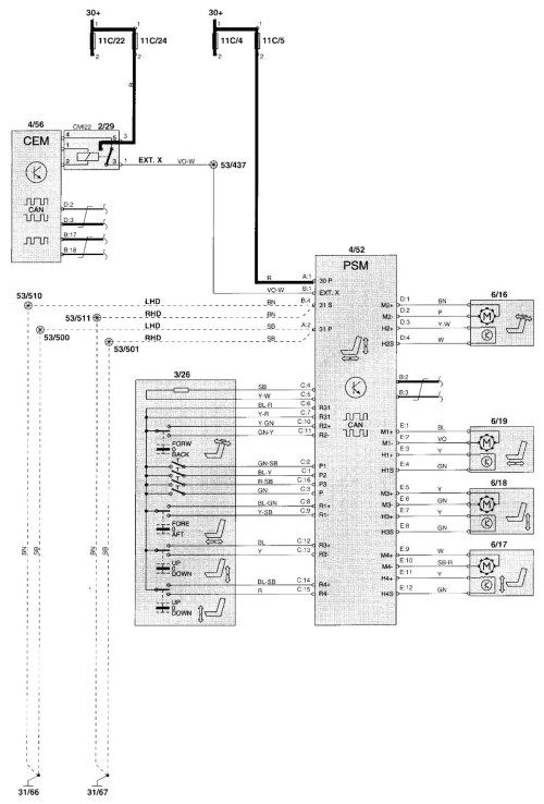 small resolution of volvo v70 2001 2002 wiring diagrams power seat 2001 volvo s60 electrical wiring diagram 2001 volvo s60 stereo wiring diagram