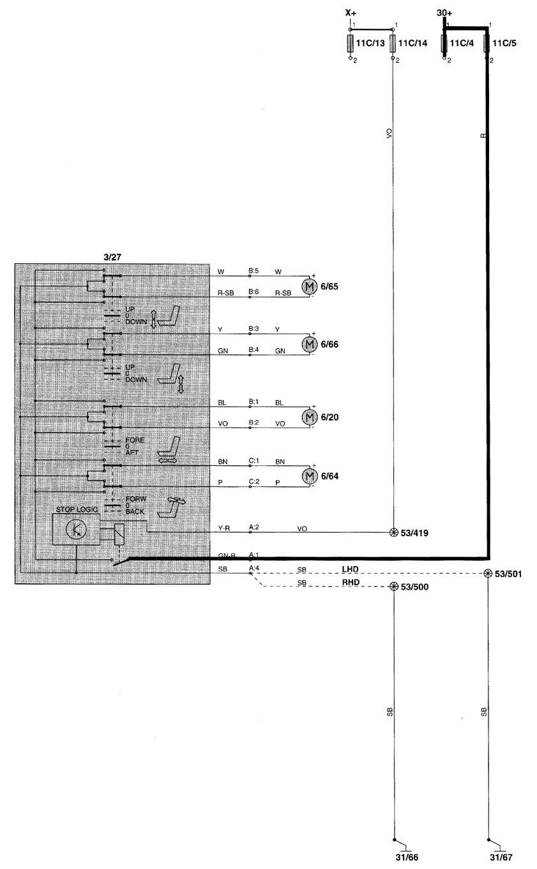 medium resolution of volvo power seat wiring diagram range wiring diagrams volvo v70 radio wiring diagram volvo xc90 wiring diagram