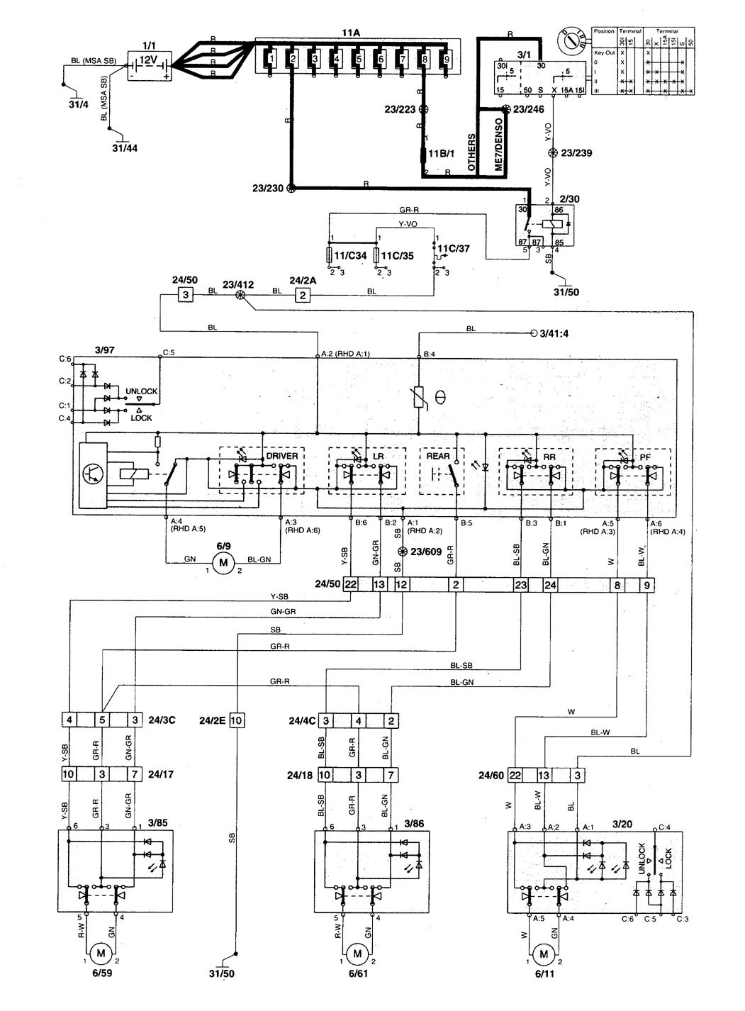 hight resolution of volvo v70 1998 1999 wiring diagrams power windows