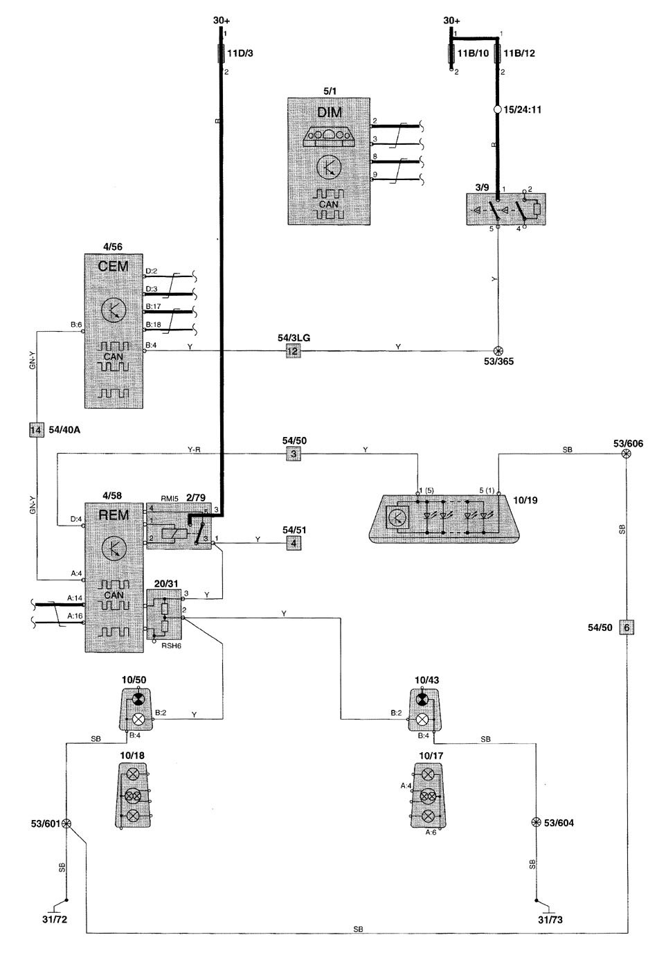 medium resolution of volvo v70 wiring diagram stop lamp