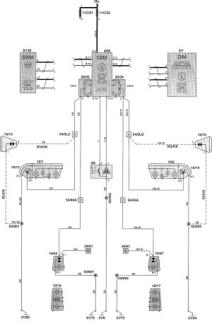 Volvo V70 (2002)  wiring diagrams  warning lamps