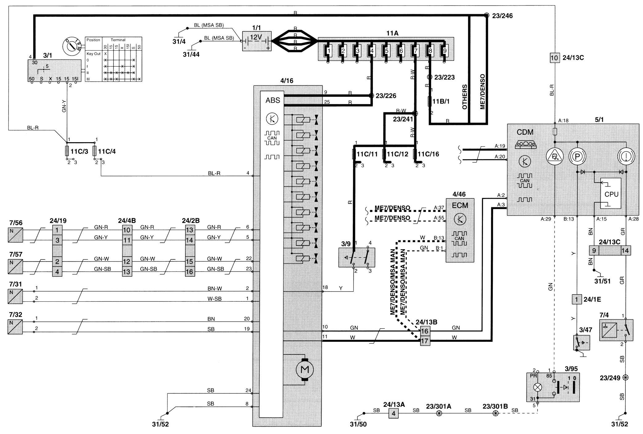 99 Volvo S80 Wiring Diagram