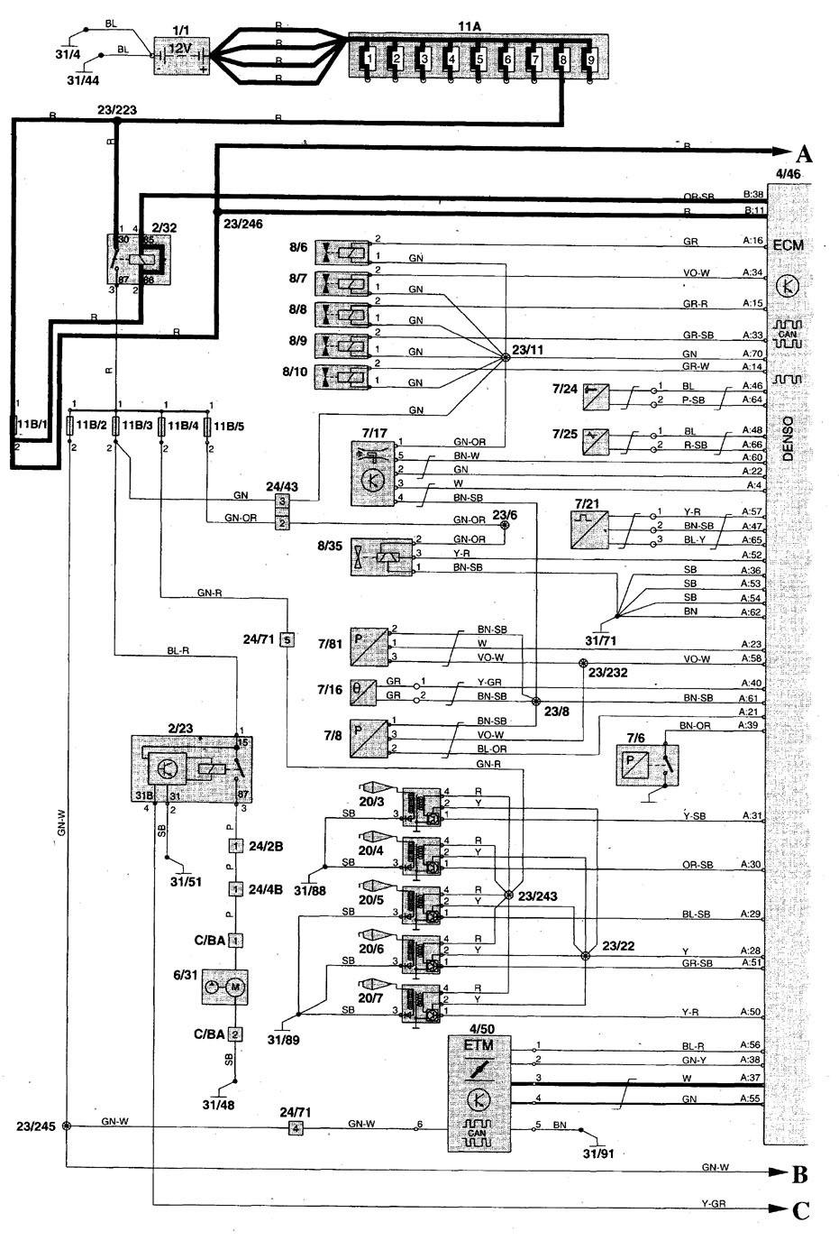 2016 hyundai sonata wiring diagram how a freezer works volvo c70 (1999 - 2004) diagrams fuel pump carknowledge