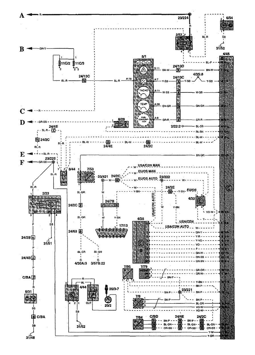 98 Volvo S70 Stereo Wiring 98 Volvo S60 Wiring Diagram