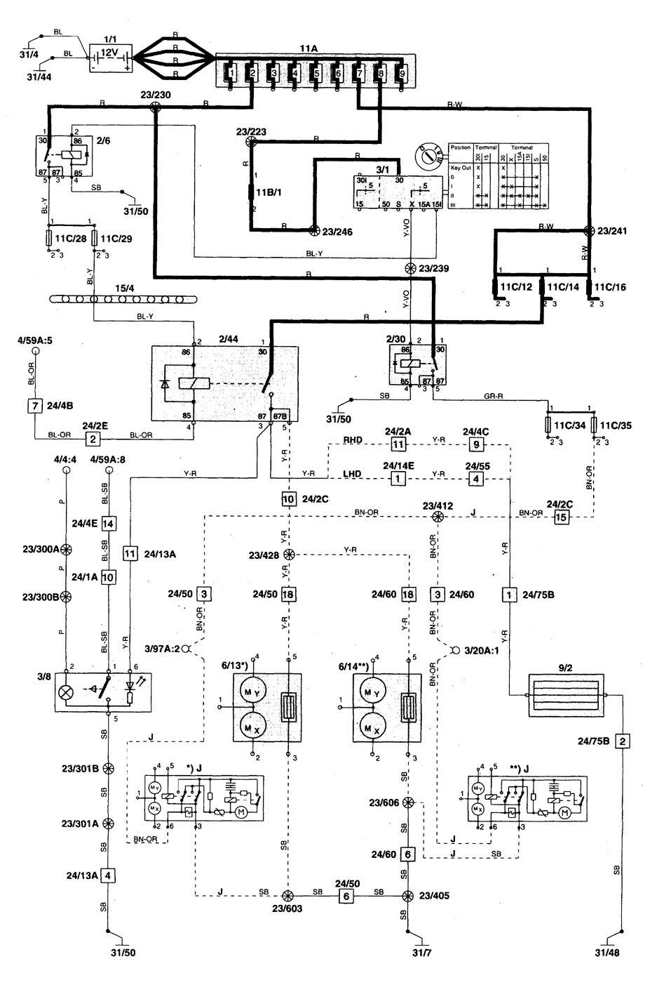medium resolution of volvo s70 1998 2000 wiring diagrams rear window 1999 volvo s70 engine diagram 1998 volvo s70
