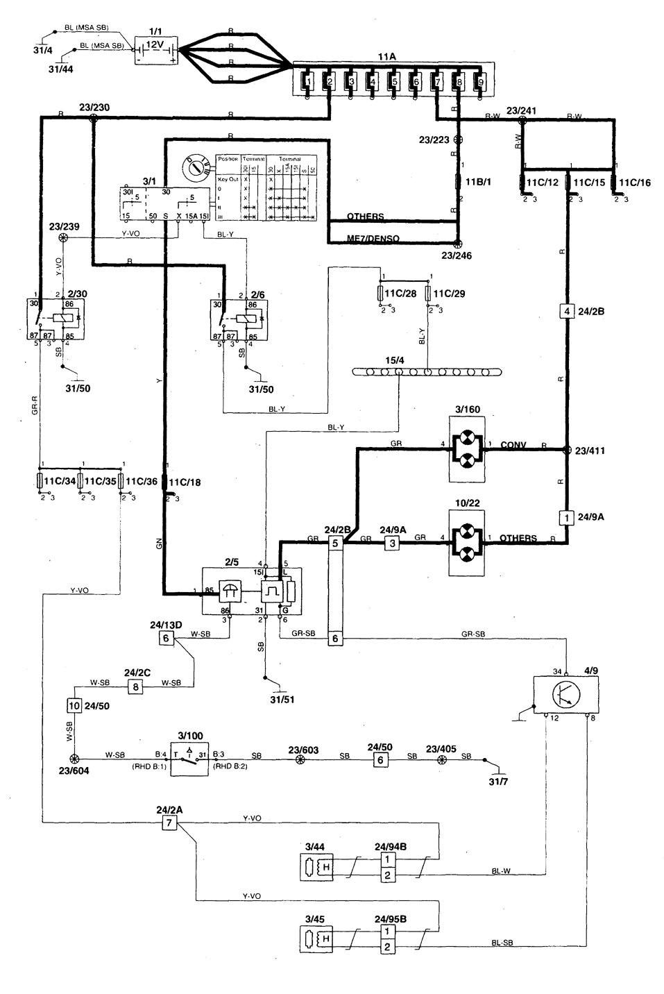 hight resolution of volvo s70 1998 2000 wiring diagrams seat belt warning