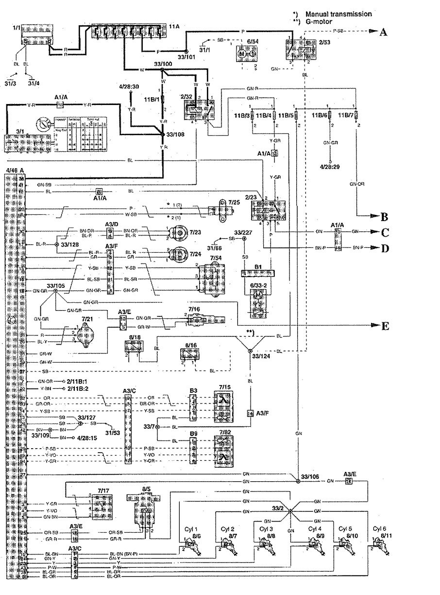 hight resolution of volvo s90 1997 1998 wiring diagrams fuel controls carknowledgevolvo s90 1997 u2013
