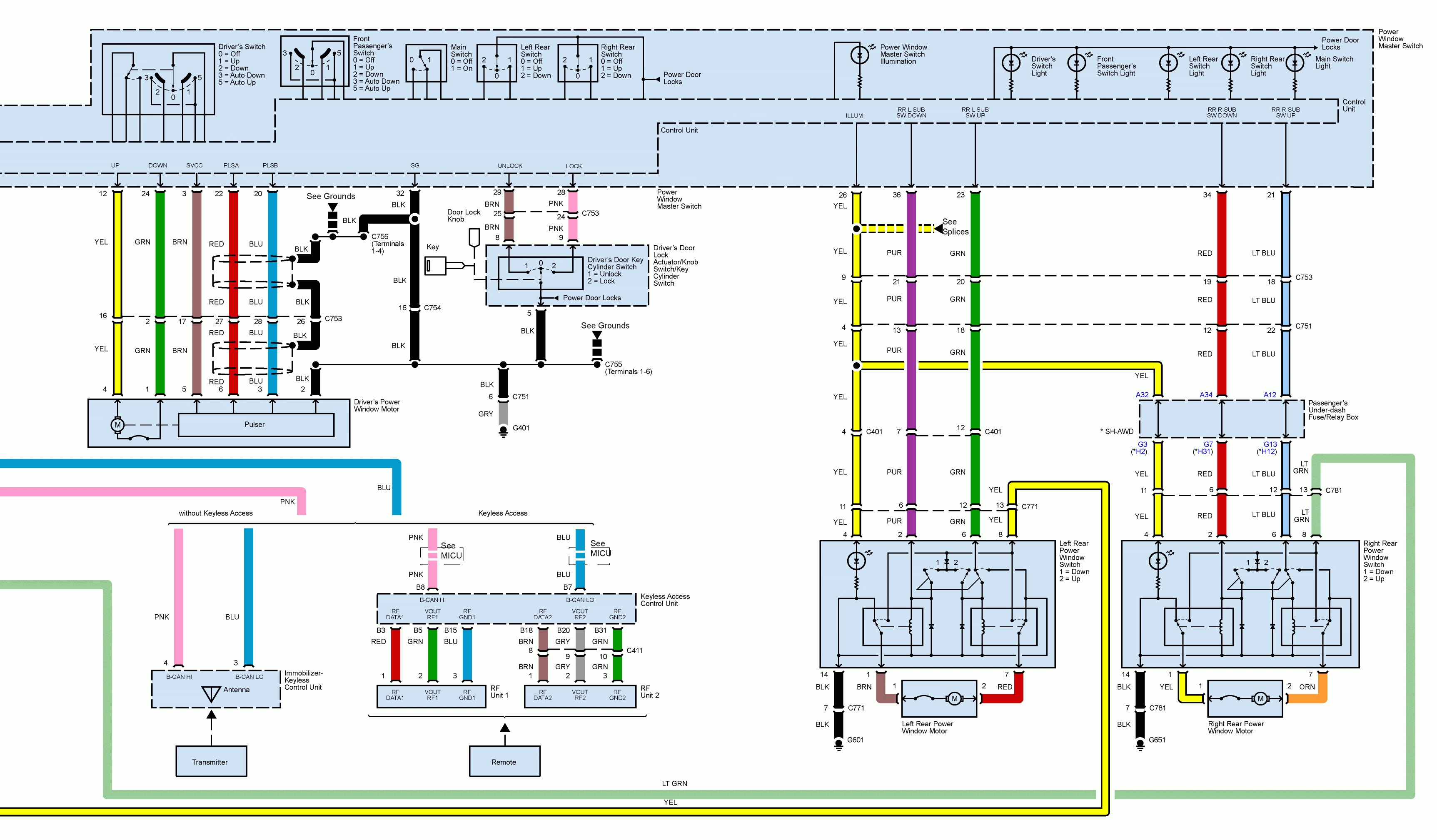 1999 acura cl stereo wiring diagram suzuki lt 125 carburetor tl window electrical diagrams