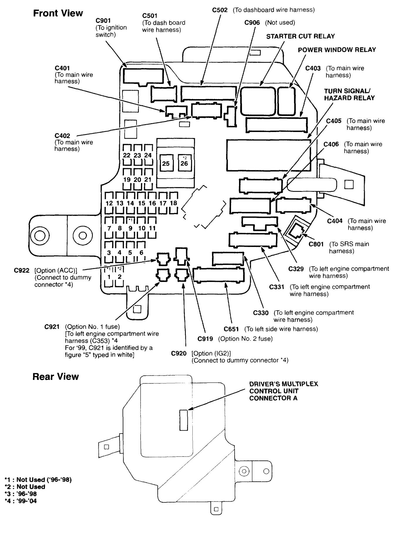 2013 accord fuse box diagram