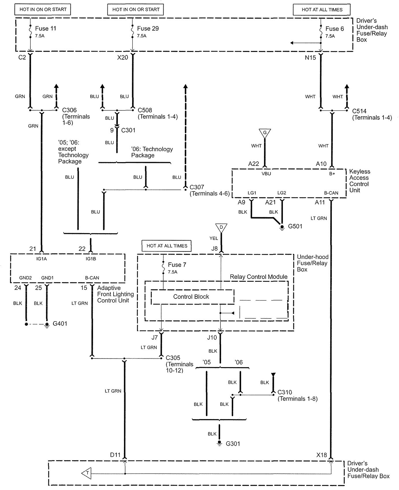 hight resolution of acura rl wiring diagram body control part 5