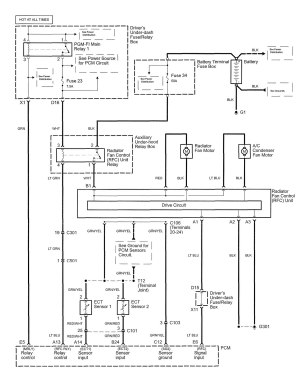 Acura RL (2005)  wiring diagrams  cooling fans
