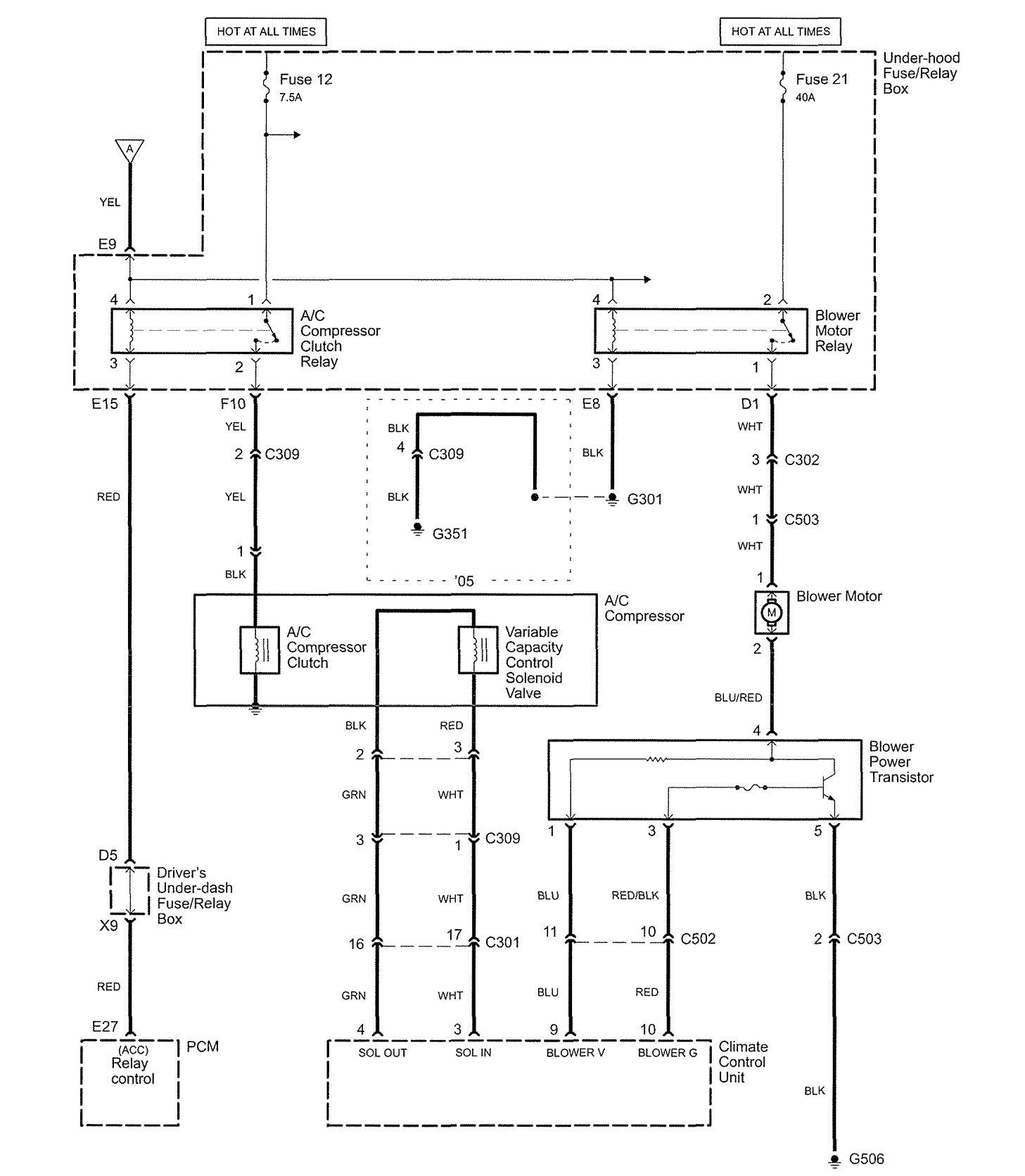 hight resolution of  acura rl wiring diagram hvac controls part 2