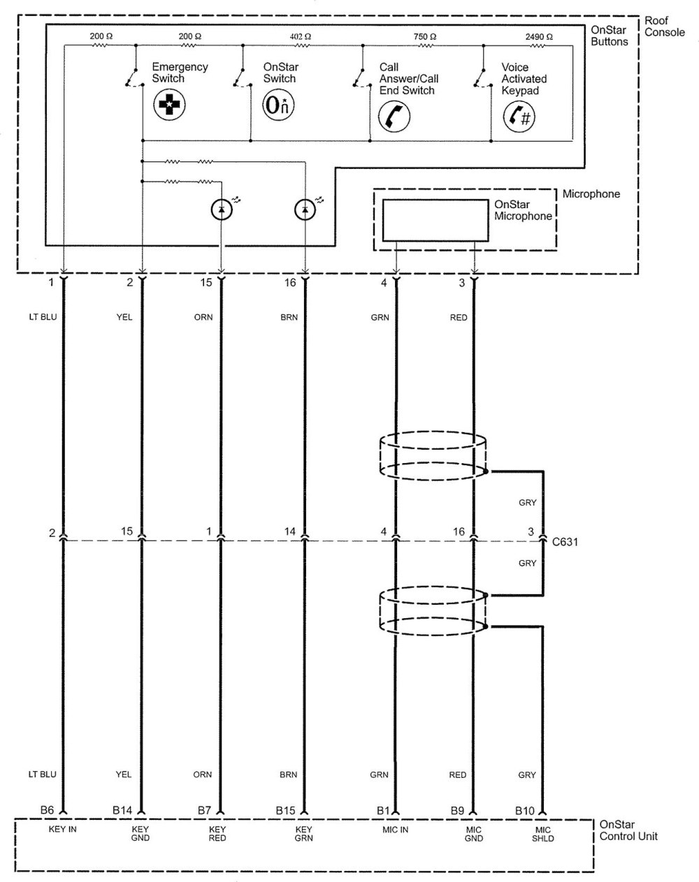 medium resolution of mic wire diagram onstar gmc