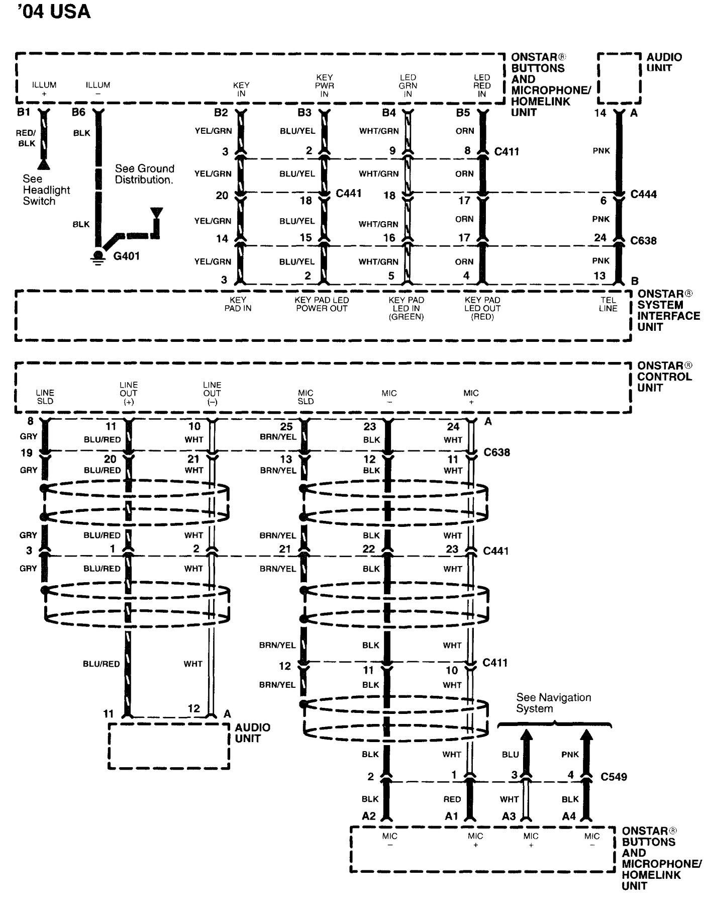 onstar wiring diagram msd 6a mopar acura rl 2003 2004 diagrams system