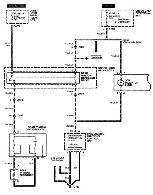 small resolution of 2003 subaru rear defrost wiring harness diagram