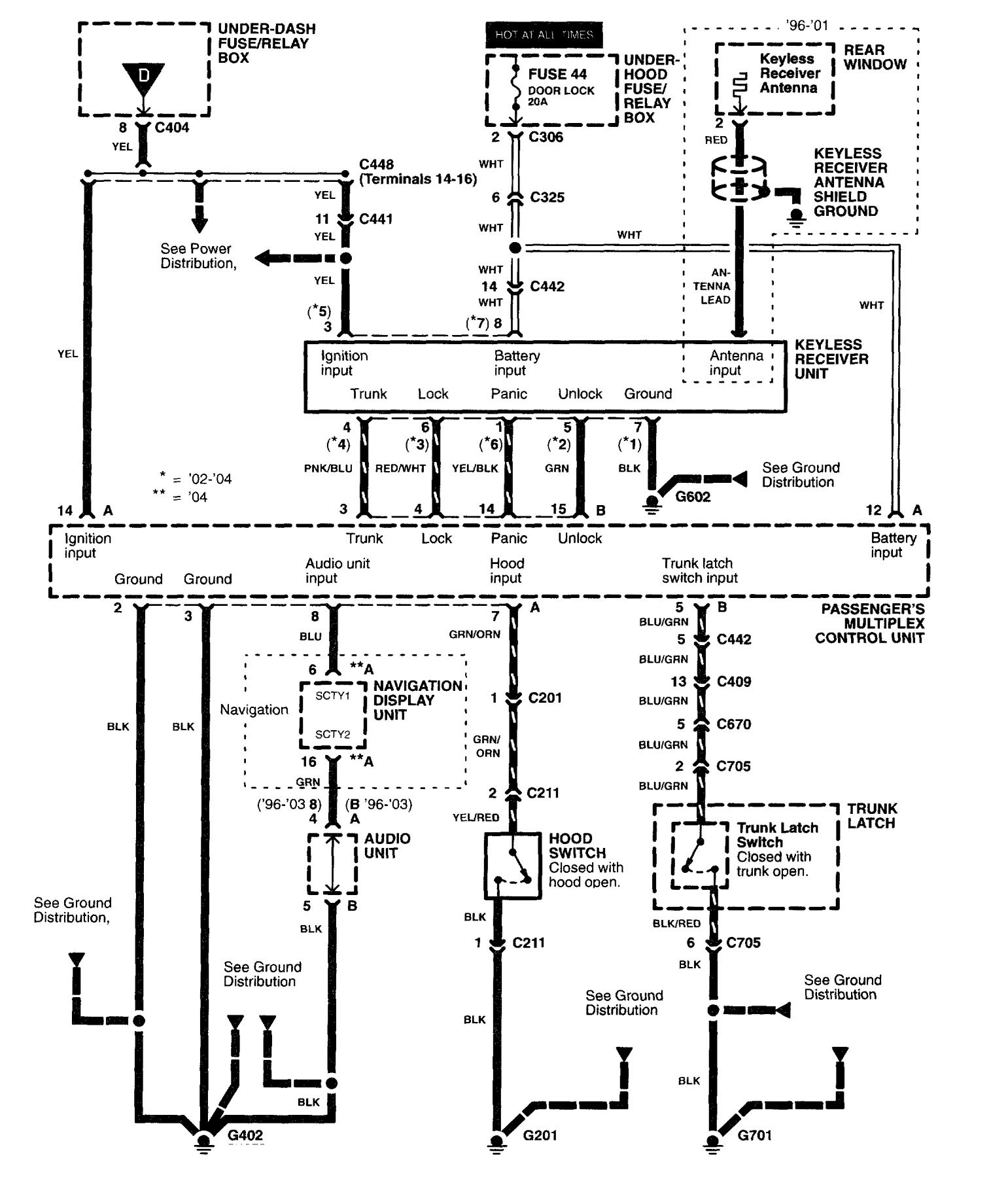 Acura Rl Wiring Diagrams Security Anti Theft. Acura. Auto