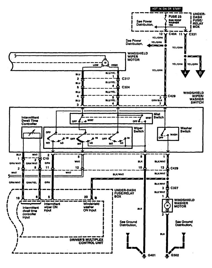 1997 Caravan Wiper Washer Wiring Diagram : 40 Wiring