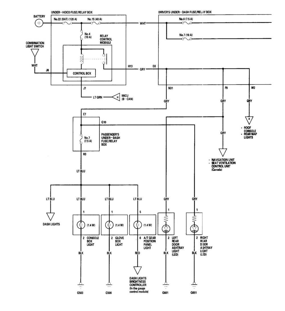 medium resolution of acura rl wiring diagram interior lighting part 1