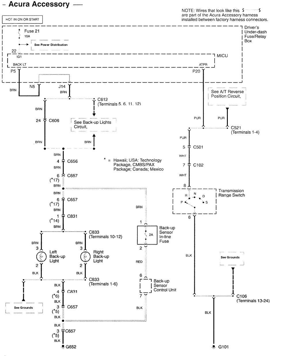 medium resolution of acura rl wiring diagram parking aid 1 2009 ford fusion parking sensor wiring hhr radio
