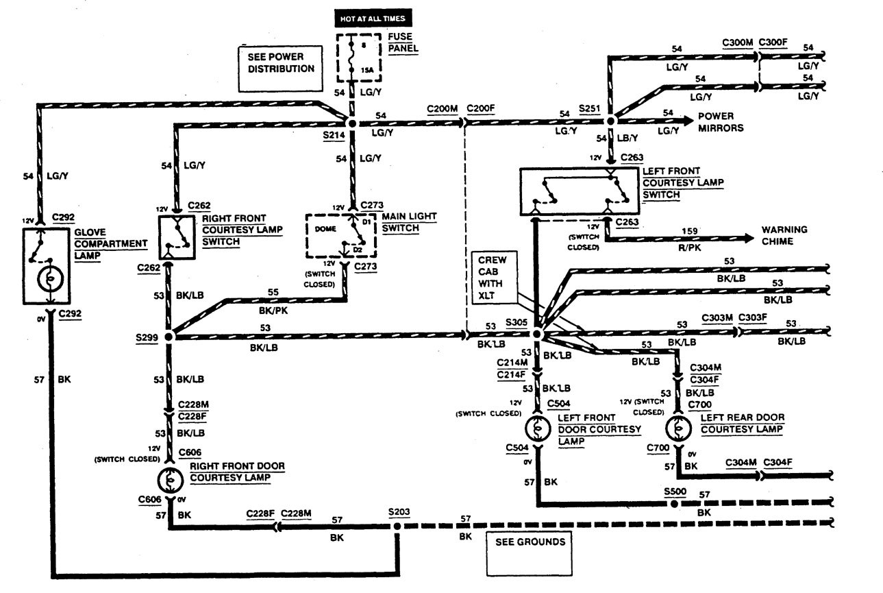 hight resolution of ford f53 wiring diagrams courtesy lamps part 1
