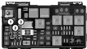 Chrysler Town and Country (2016) – fuse box diagram