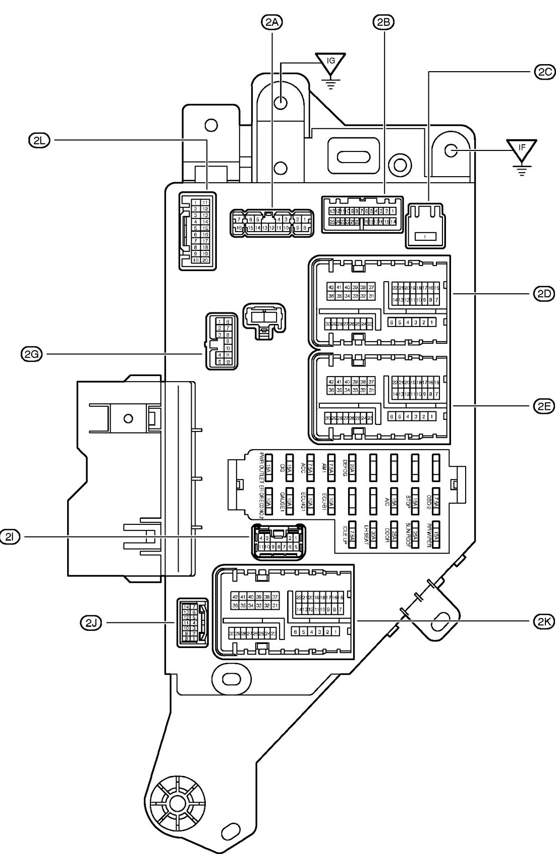 Fuse Box Diagram Pontiac Aztek