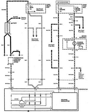 Acura SLX (1996)  wiring diagrams  charging system